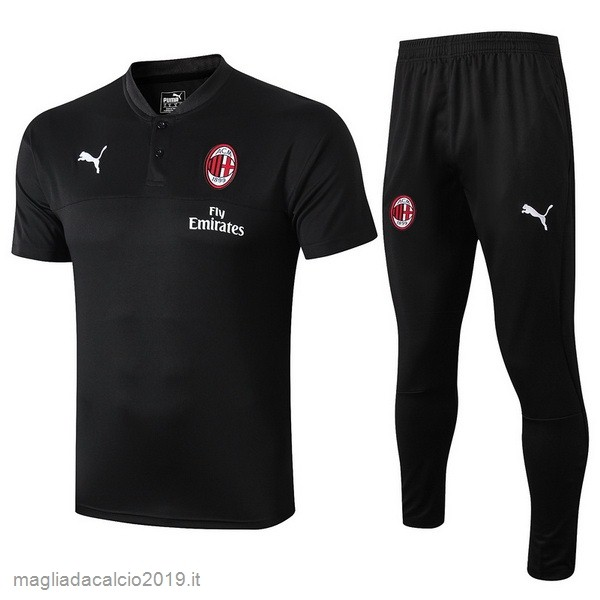 Kit Calcio Offerta Puma Set Completo Polo AC Milan 2019 2020 Nero