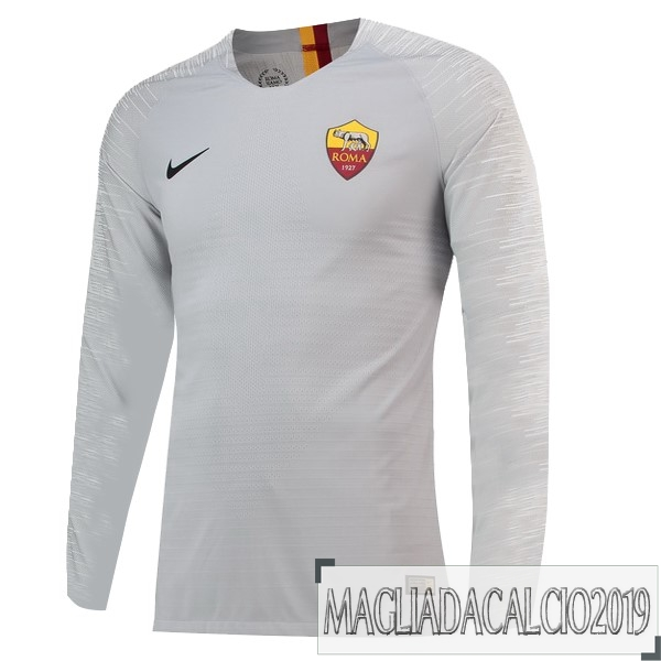 Kit Calcio Offerta Nike Away Manica Lunga As Roma 18-19 Grigio