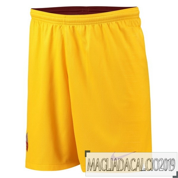 Kit Calcio Offerta Nike Terza Pantaloncini As Roma 18-19 Giallo