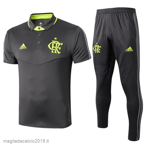 Kit Calcio Offerta adidas Set Completo Polo Ajax 2019 2020 Grigio Navy