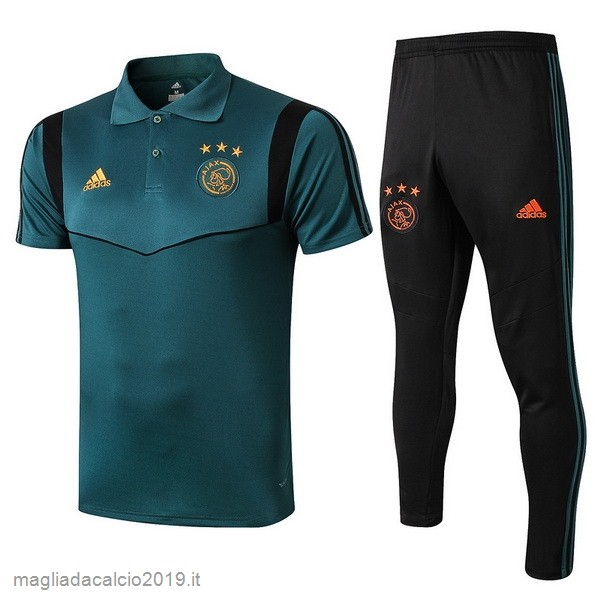 Kit Calcio Offerta adidas Set Completo Polo Ajax 2019 2020 Verde