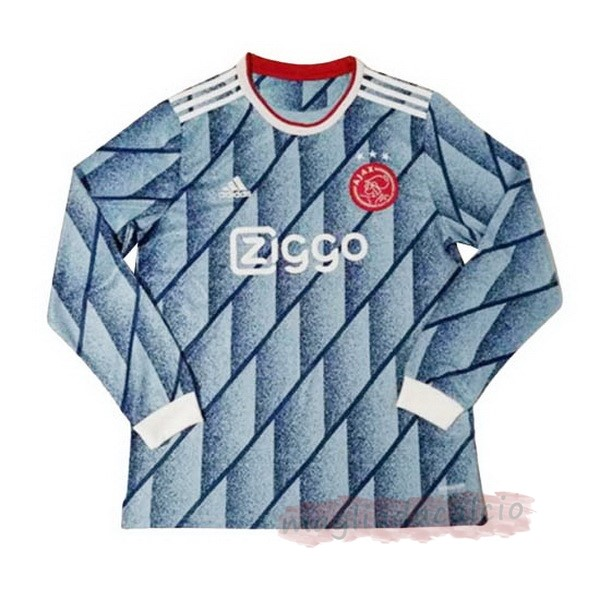 Kit Calcio Offerta adidas Away Manica lunga Ajax 2020 2021 Blu