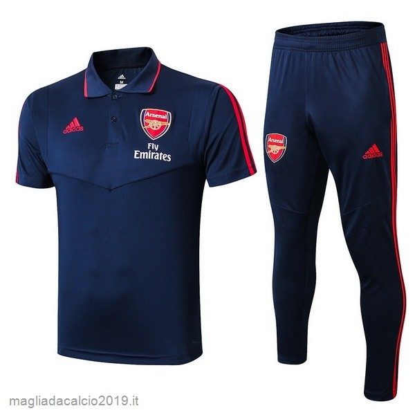 Kit Calcio Offerta adidas Set Completo Polo Arsenal 2019 2020 Blu Navy