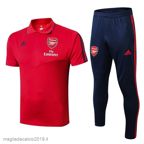 Kit Calcio Offerta adidas Set Completo Polo Arsenal 2019 2020 RossoBlu