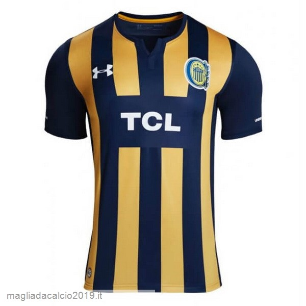 Kit Calcio Offerta Under Armour Home Maglia CA Rosario Central 2019 2020 Blu Giallo