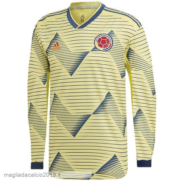 Kit Calcio Offerta Adidas Home Manica lunga Columbia 2019 Giallo