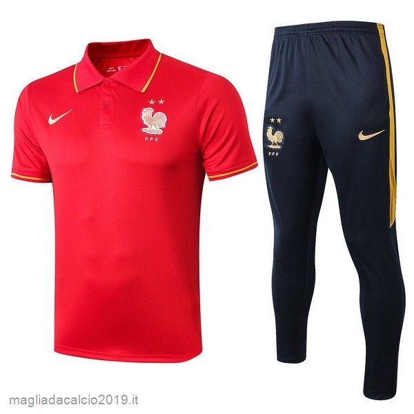 Kit Calcio Offerta Nike Set Completo Polo France 2019 Rosso