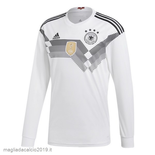 Kit Calcio Offerta adidas Home Manica Lunga Germania 2018 Bianco