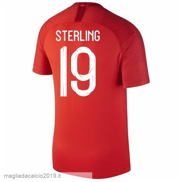 Kit Calcio Offerta Nike NO.19 Sterling Away Maglia Inghilterra 2018 Rosso