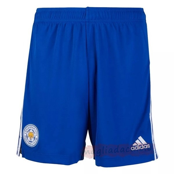 Kit Calcio Offerta adidas Home Pantaloni Leicester City 2020 2021 Blu