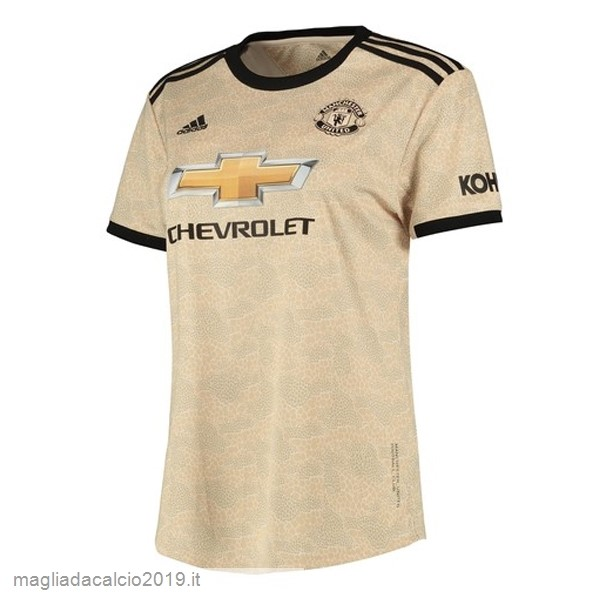 Kit Calcio Offerta adidas Away Maglia Donna Manchester United 2019 2020 Marrone