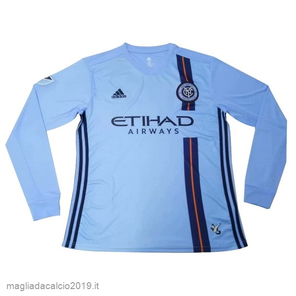 Kit Calcio Offerta Adidas Home Manica lunga New York City 2019 2020 Blu