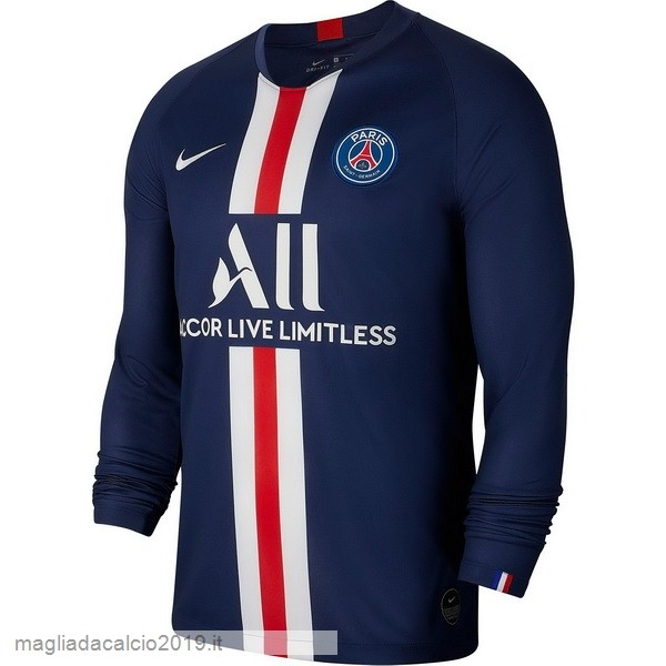 Kit Calcio Offerta Nike Home Manica lunga Paris Saint Germain 2019 2020 Blu