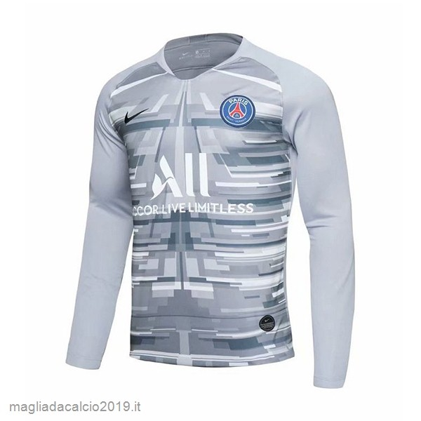 Kit Calcio Offerta Nike Home Manica lunga Portiere Paris Saint Germain 2019 2020 Grigio