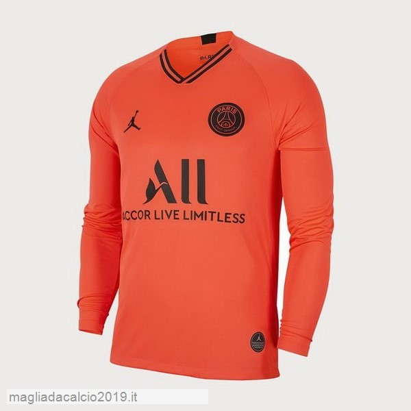 Kit Calcio Offerta JORDAN Away Manica lunga Paris Saint Germain 2019 2020 Oroange