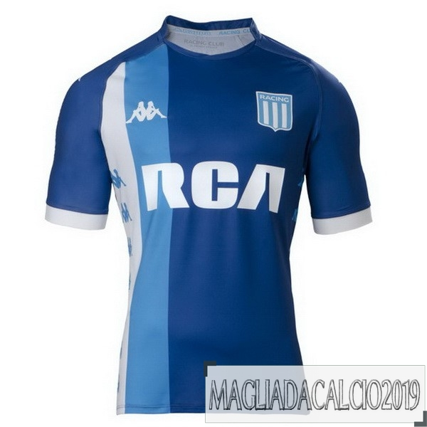 Kit Calcio Offerta Kappa Away Maglia Racing Club 18-19 Blu