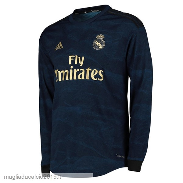 Kit Calcio Offerta Adidas Away Manica lunga Real Madrid 2019 2020 Blu