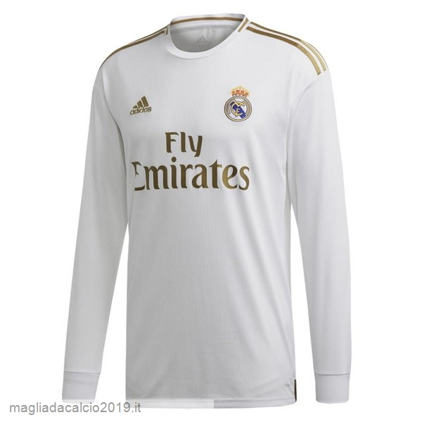 Kit Calcio Offerta Adidas Home Manica lunga Real Madrid 2019 2020 Bianco
