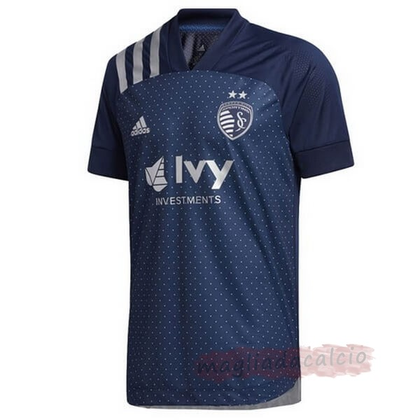 Kit Calcio Offerta adidas Away Maglia Sporting Kansas City 2020 2021 Blu