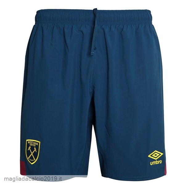 Kit Calcio Offerta umbro Away Pantaloncini West Ham United 18-19 Blu